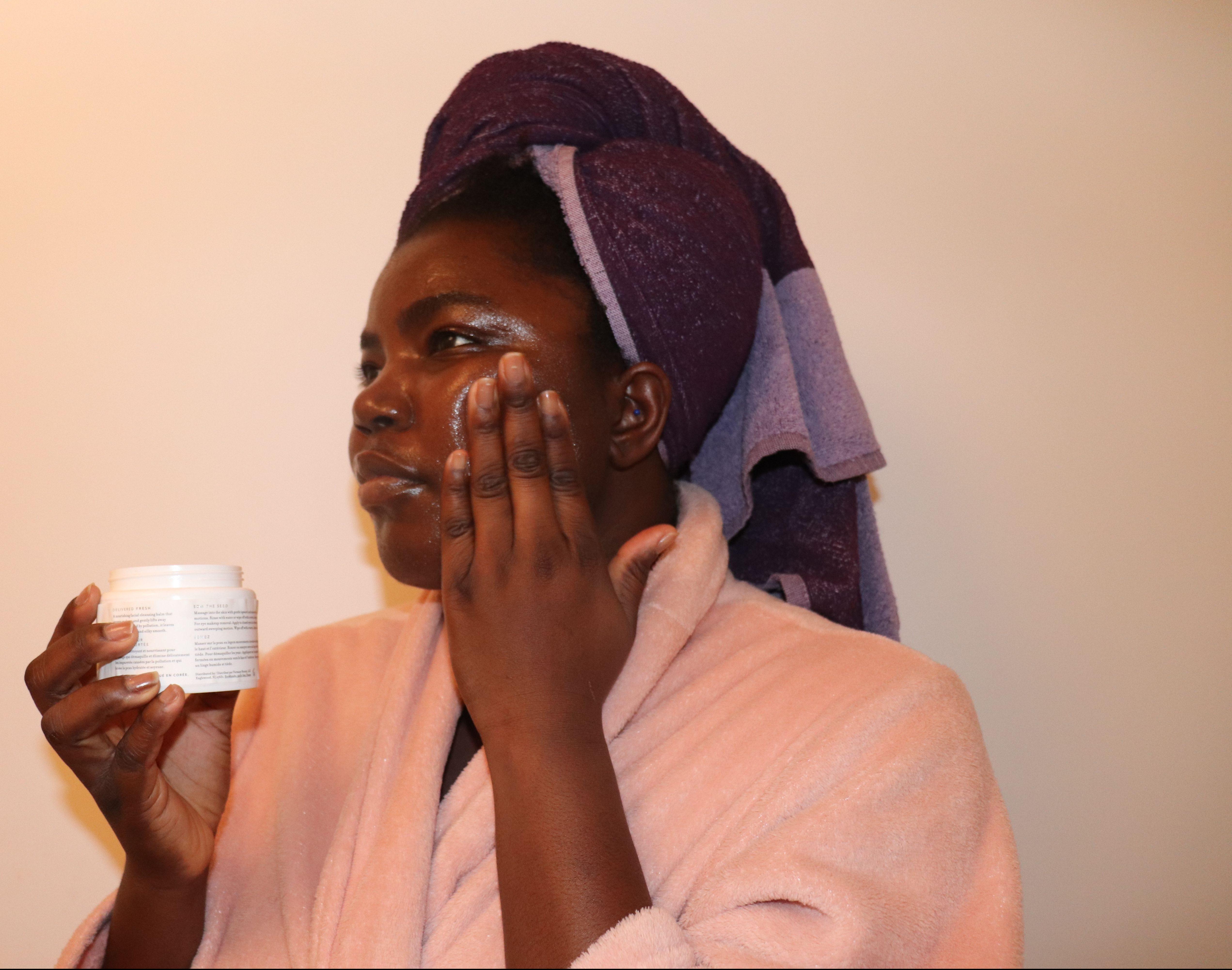 Farmacy mask on my face