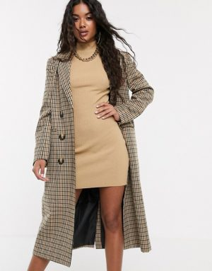 ASOS DESIGN – Manteau long et léger à carreaux